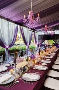 Decor de nunta Radiant Orchid