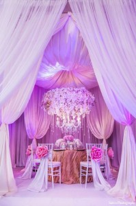 Decor de nunta Radiant Orchid 2