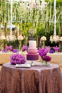 Tort de nunta Radiant Orchid