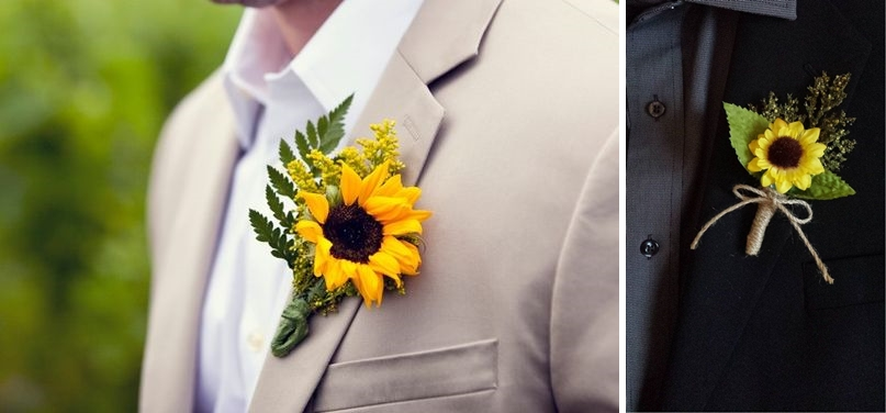 Tinute mirea pentru o nunta cu tema floarea soarelui
