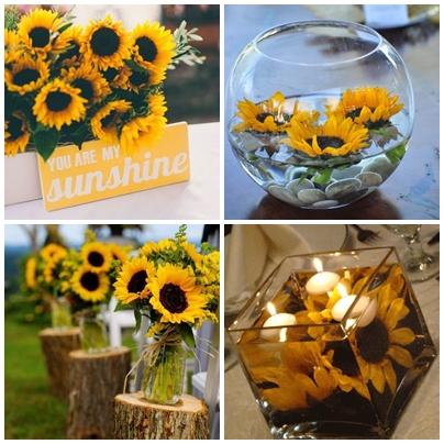 Idei decor pentru o nunta cu tema floarea soarelui