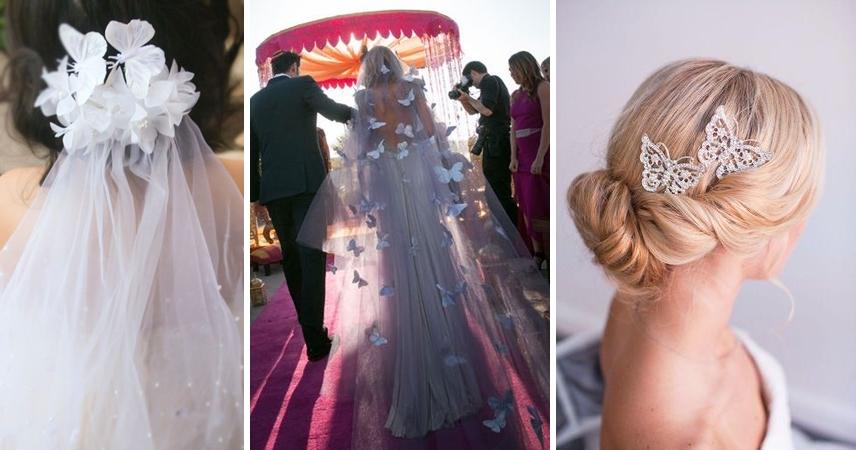 Modele rochii de mireasa pentru nunta cu tema fluturi