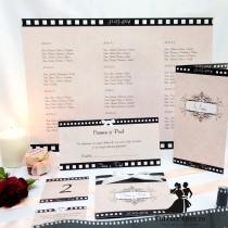 Papetarie completa pentru nunta - invitatii si accesorii Hollywood