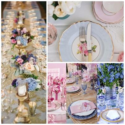 Idei de decor pentru o nunta organizata in culorile anului 2016 - roz quartz si albastru seren