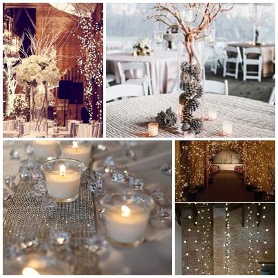 Decor pentru nunta de iarna cu tema Winter Wonderland