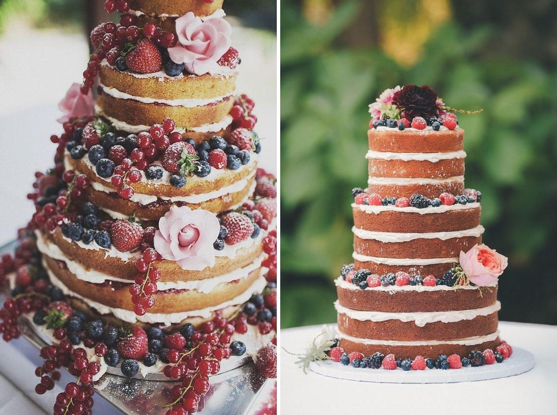 Idei de tort naked cake pentru nuntile anului 2016