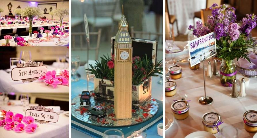 Idei decor tematic pentru mese - nuntile anului 2016