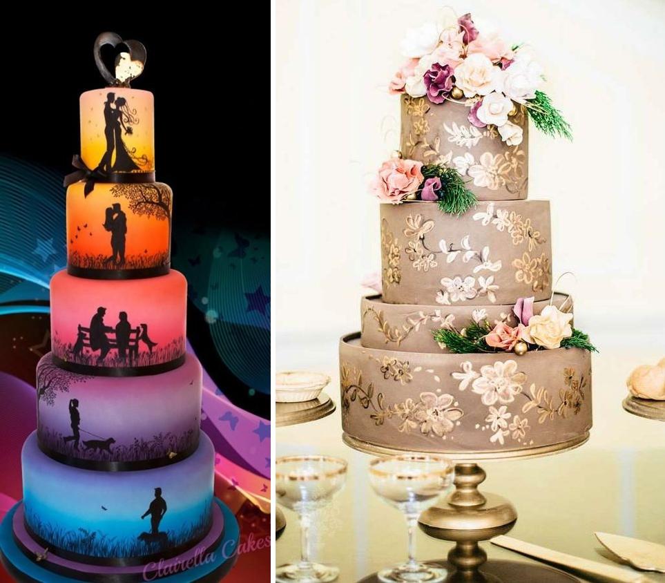 Idei de tort pictat pentru nuntile anului 2016