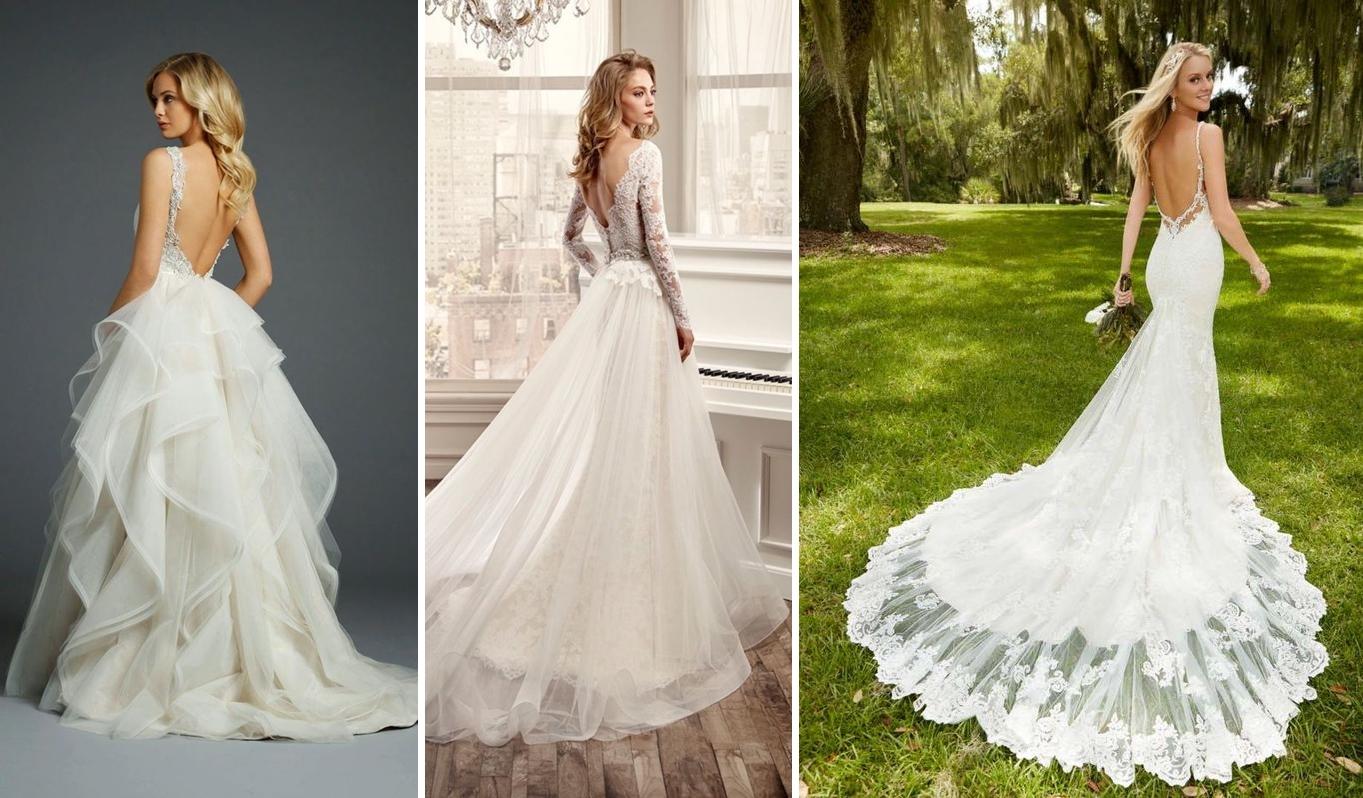 Idei rochie de mireasa pentru nunta ombre in nuante de albastru