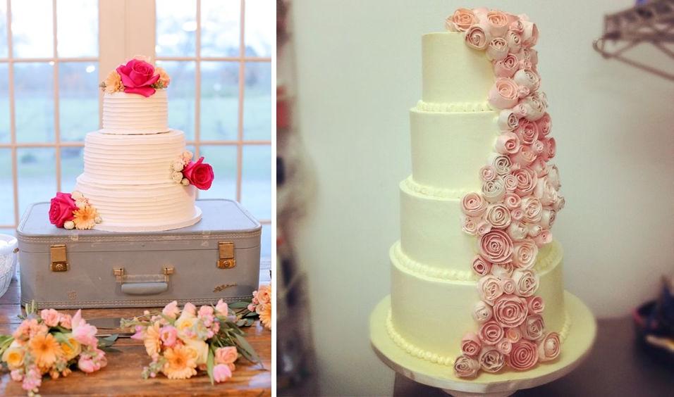 Idei de tort cu buttercream pentru nuntile anului 2016