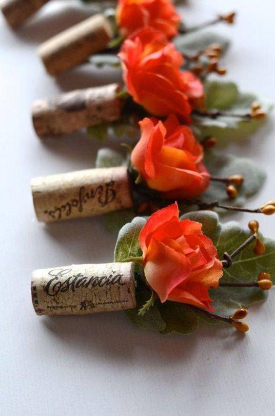 cocarde pentru nunta cu tema vinului